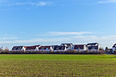 Housing area with acre Stock Photography