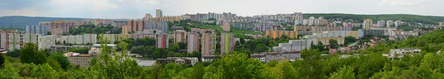 Housing area. Blocks of flats in a hill Royalty Free Stock Photo