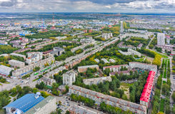 Housing area large-panel houses. Tyumen. Russia Stock Photography