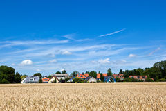 Housing area in rural landscape Stock Images