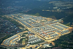 Housing area under constructions Stock Images
