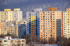 Housing Blocks. Socialist housing towers in Bratislavia Slovakia Royalty Free Stock Images