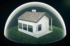 Housing bubble on dark Stock Image