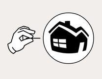 Housing bubble icon Stock Photo