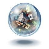 Housing bubble symbol vector illustration