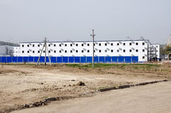 Housing for the builders of the bridge Kerch Stock Photos