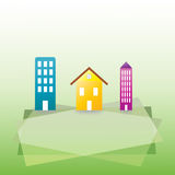 Housing and buildings vector Background Royalty Free Stock Photo