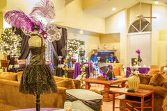 Housing Clubhouse with Mardi Gras Decor Royalty Free Stock Photography