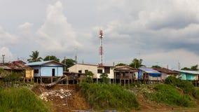 Housing coastal landslides Stock Image