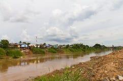 Housing coastal landslides Royalty Free Stock Photo