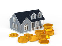 Housing and coin Royalty Free Stock Images