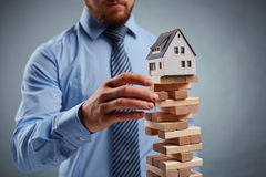 Housing collapse Royalty Free Stock Photo