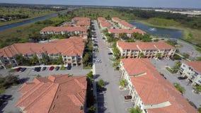 Housing community aerial 4k video stock video footage