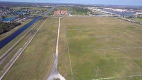 Housing community aerial 4k video stock footage