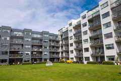 Housing complex in Reykjavik Stock Images