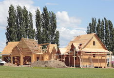 Housing Construction Boom Stock Photo