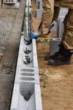Concrete block work. Housing construction / Concrete block work royalty free stock photo