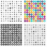 100 housing construction icons set vector variant. 100 housing construction icons set vector in 4 variant for any web design isolated on white vector illustration