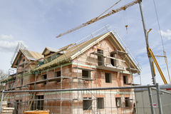 Housing construction site Royalty Free Stock Photography