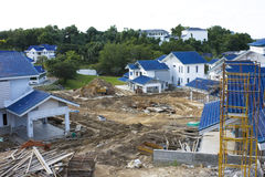 Housing Construction Site, Brunei. Image of a housing construction site in Brunei Stock Image