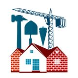 Housing construction symbol for business. Building and maintenance of housing symbol for business Stock Image