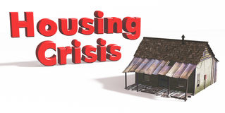 Housing Crisis. Digital rendering of a Housing Crisis Stock Images