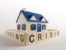 Housing Crisis Fence extreme angle stock photos
