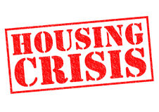 HOUSING CRISIS. Red Rubber Stamp over a white background Royalty Free Stock Photography