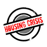 Housing Crisis rubber stamp. Grunge design with dust scratches. Effects can be easily removed for a clean, crisp look. Color is easily changed Royalty Free Stock Images