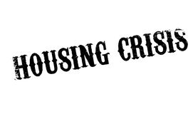 Housing Crisis rubber stamp. Grunge design with dust scratches. Effects can be easily removed for a clean, crisp look. Color is easily changed Royalty Free Stock Photo