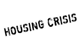 Housing Crisis rubber stamp. Grunge design with dust scratches. Effects can be easily removed for a clean, crisp look. Color is easily changed Stock Image
