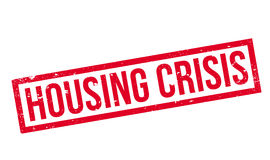 Housing Crisis rubber stamp Stock Image