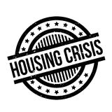 Housing Crisis rubber stamp. Grunge design with dust scratches. Effects can be easily removed for a clean, crisp look. Color is easily changed Royalty Free Stock Photos