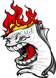 Housing Crisis Screaming Burning Mortgage. Cartoon Image of a Screaming Mortgage Forclosure on fire representing the Housing Crisis and Financial Meltdown Royalty Free Stock Photography