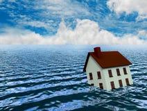 Housing Crisis. In the sea Stock Photos
