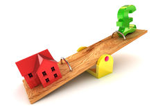 Housing Debt Pound Illustration Royalty Free Stock Images