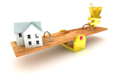 Housing Debt Yen Royalty Free Stock Images