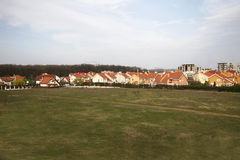 Housing Development. A view of new housing development being built Royalty Free Stock Photography