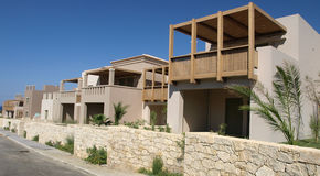 Housing development in Greece. Single family housing estate in Crete royalty free stock photography