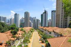 Malaysia/KL: Residential Area and High-Rise Condos. A luxury residential area in the Mont Kiara area of Kuala Lumpur - surrounded by new high-rise condos Stock Images