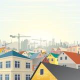 Housing Development Vector Royalty Free Stock Photo