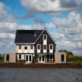 Housing development on the watefront Stock Image