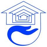Housing emblem. Line art isolated housing emblem design royalty free illustration