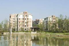 Housing estate. China's modern life area of the building stock photo