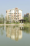 Housing estate. China's modern life area of the building royalty free stock photo