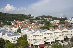 Housing estate. Top view of a housing estate in Singapore Royalty Free Stock Image