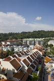 Housing estate. Top view of a housing estate in Singapore Stock Photography