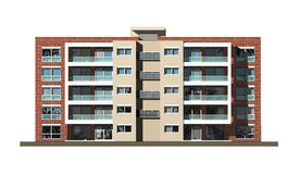 Housing estate. 3d modelling of housing project Stock Images