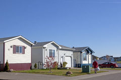 Housing estate, Alberta, Canada Royalty Free Stock Images