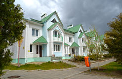 Housing estate in `The city of chess` City Chess. Elista, Kalmykia royalty free stock photography